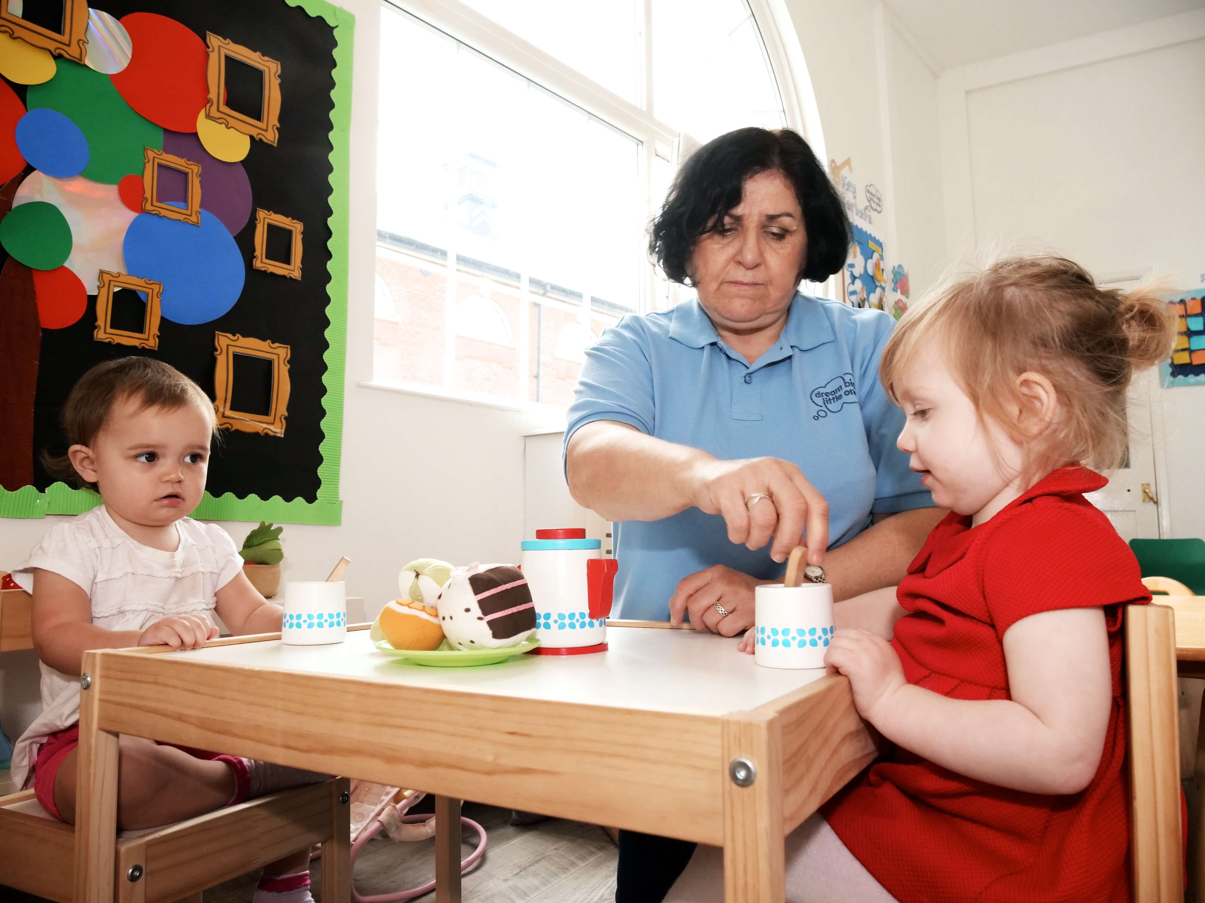 Image of a nursery menu meal time at Dream Big Little one